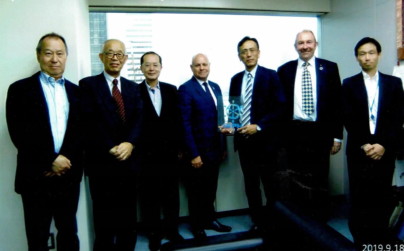 Visit of Chairman John Beckett and Richard Brough to IAPH Tokyo.